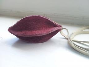Leren halssieraad paars