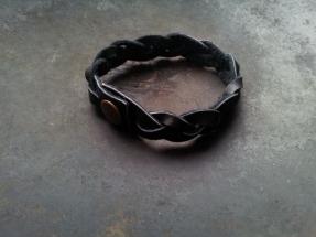 Leren armband vlecht